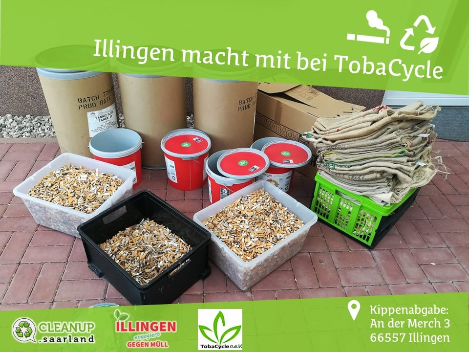 Tobacycle - Recycling von Zigarettenkippen