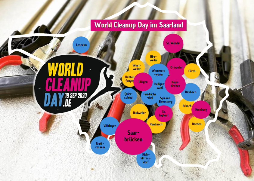 World Cleanup Day im Saarland